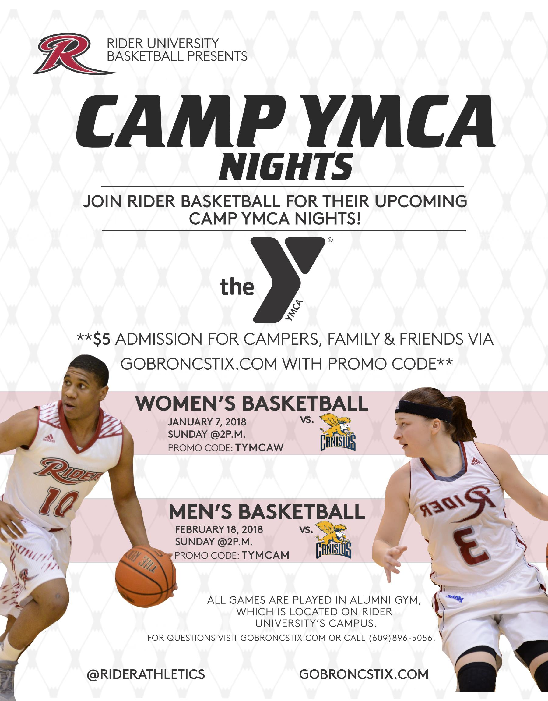 Camp YMCA Nights at Rider Men's Basketball – Capital Area YMCA