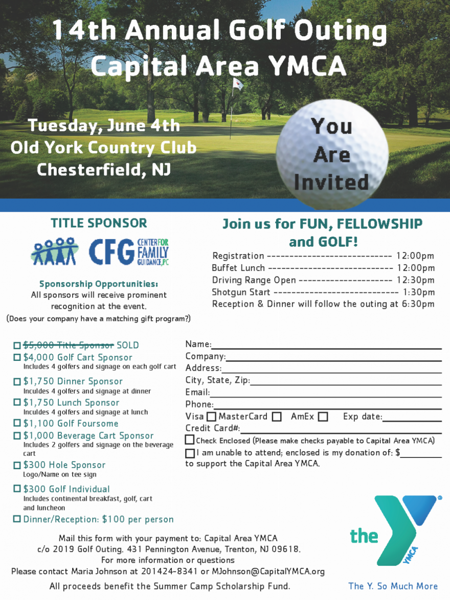14th Annual Golf Outing – Capital Area YMCA