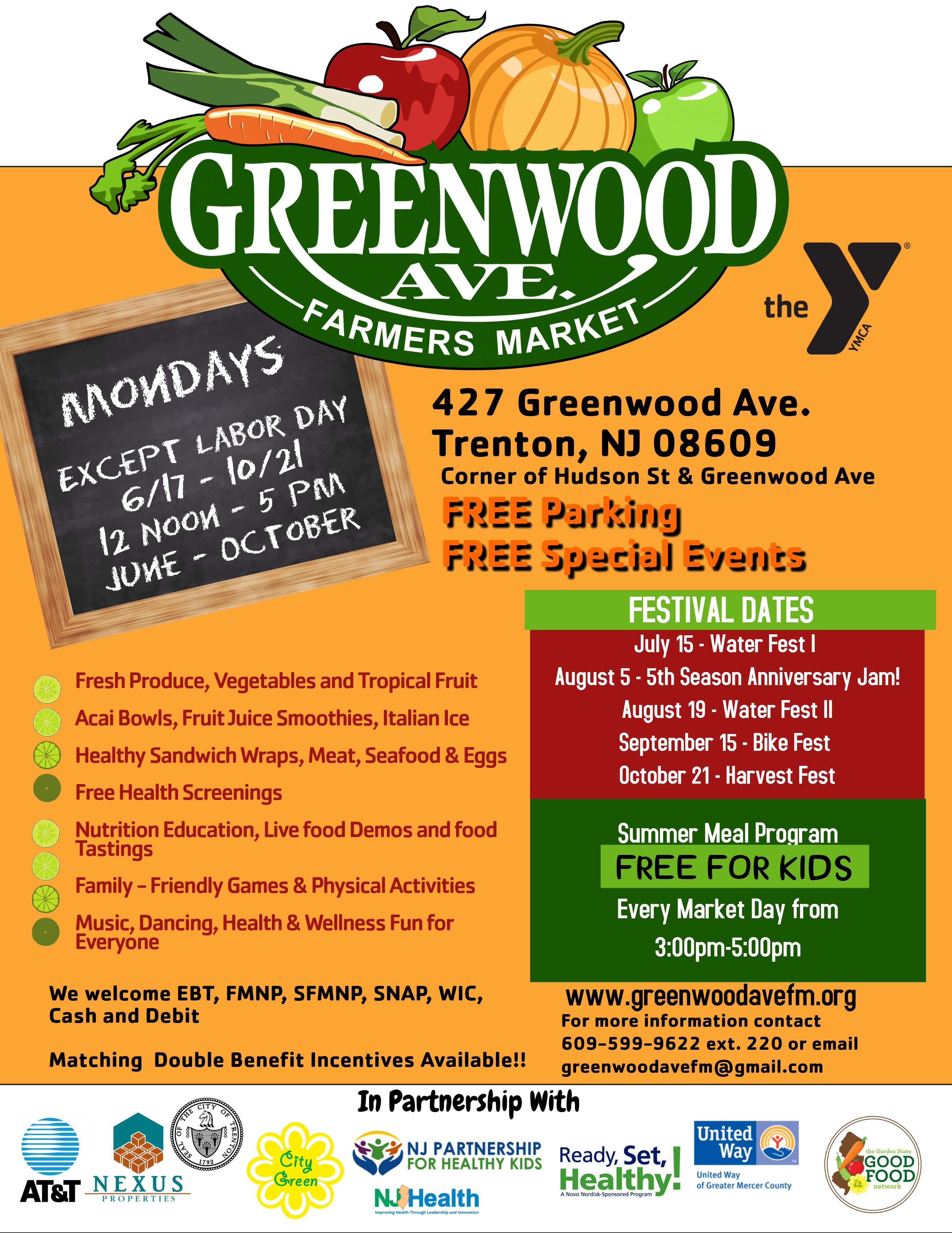 Farmers Market Closing Day @ Greenwood Avenue Farmers Market | Trenton | New Jersey | United States