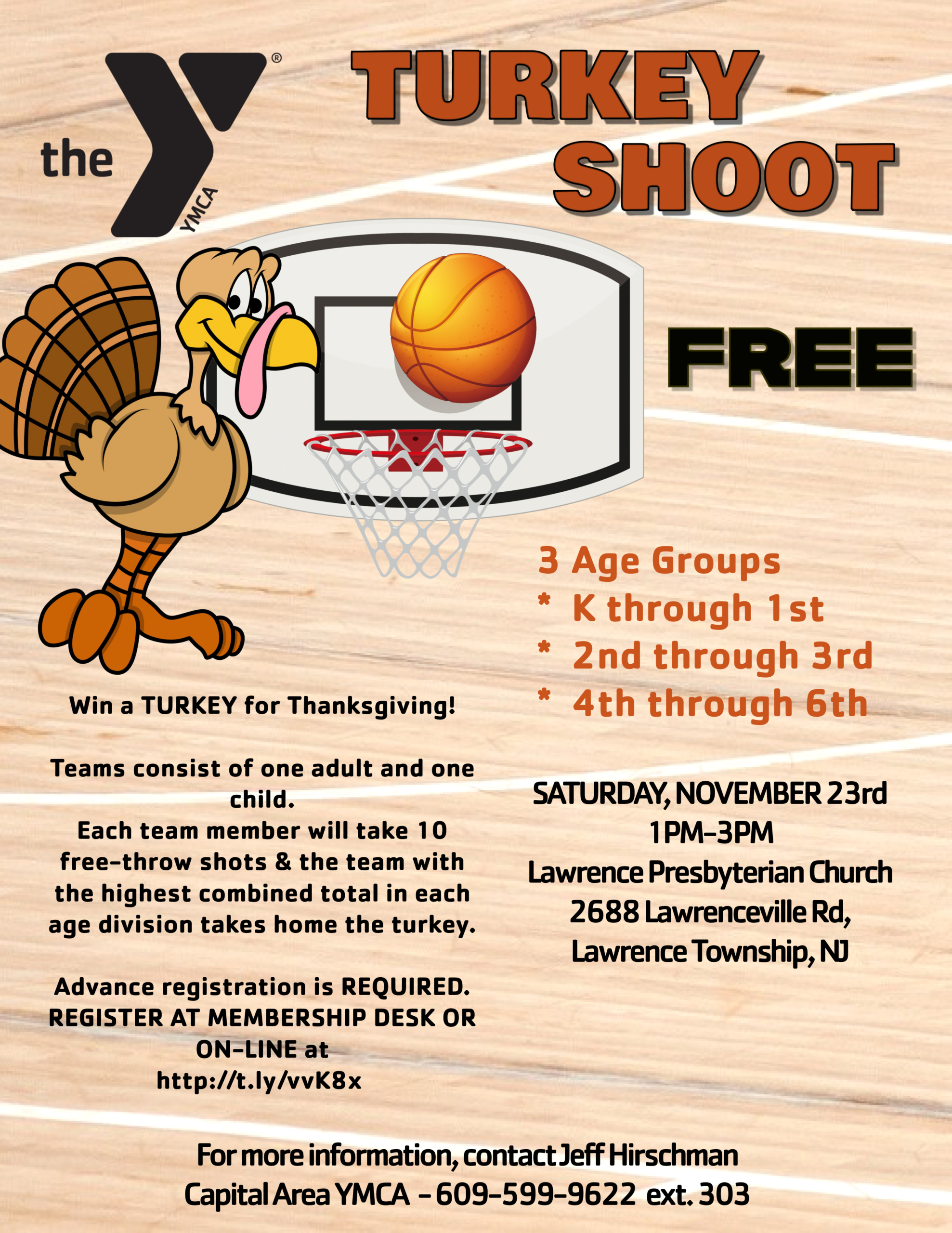 Free Turkey Foul Shooting @ Lawrence Presbyterian Church | Lawrence Township | New Jersey | United States
